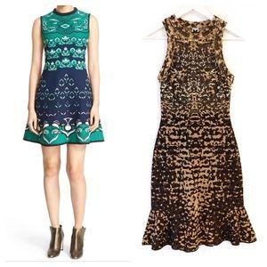 M missoni knit jacquard metallic fit flare dress 2